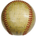 "Autographs:Baseballs, 1946 St. Louis Cardinals Team Signed Baseball. Country"" Enos Slaughter's Mad Dash in Game Seven of the World Series this se..."