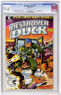 Modern Age (1980-Present):Humor, Destroyer Duck #1 (Eclipse, 1982) CGC NM+ 9.6 Off-white to whitepages. ...