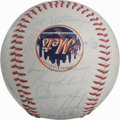 Autographs:Baseballs, 1986 New York Mets World Champion Team Signed Baseball. The WorldSeries winners are represented here with this exceptional...
