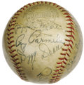 Autographs:Baseballs, 1936 St. Louis Cardinals Team Signed Baseball. Though a bold vintage notation across the ball's ONL (Frick) stamping expres...