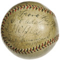 Autographs:Baseballs, 1930 St. Louis Cardinals Team Signed Baseball. Another NationalLeague Championship, and another October meeting with Conni...