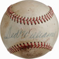 Autographs:Baseballs, Ted Williams Single Signed Baseball. While the ONL (Feeney) ballseen here has met with a good amount of visual detractors,...