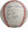 Autographs:Baseballs, 1992 Cleveland Indians Team Signed Baseball. Eighteen from the 1992Cleveland Indians have checked in on the provided OAL (...