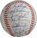 Autographs:Baseballs, 1995 Cleveland Indians Team Signed Baseball. The 1995 AL pennantwinners are represented here with twenty-six signatures th...