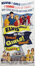 "Movie Posters:Elvis Presley, Girls! Girls! Girls! (Paramount, 1962). Three Sheet (41"" X 81"").Elvis Presley plays a Hawaiian fisherman who has to choose ..."