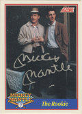 "Autographs:Sports Cards, 1991 Score Mickey Mantle Signed ""The Rookie"" #1. Score produced amini issue in 1991 that was dedicated to that HOF Yankee ..."
