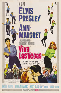 "Viva Las Vegas (MGM, 1964). One Sheet (27"" X 41"") Style A. Elvis and Ann-Margret -- what a combination for one..."
