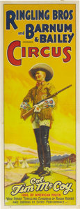 "Movie Posters:Western, Tim McCoy Ringling Brother Circus Poster (Ringling, 1935). CircusPoster (21"" X 55.75""). Following a successful film career,..."