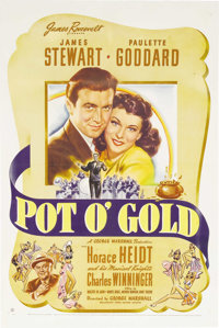 "Pot o' Gold (United Artists, 1941). One Sheet (27"" X 41""). Taken from the radio show with the same name, the f..."