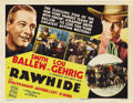 """Movie Posters:Western, Rawhide (20th Century Fox, 1938). Title Lobby Card (11"""" X 14""""). New York Yankees legend Lou Gehrig (playing himself) goes to..."""