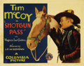 "Movie Posters:Western, Shotgun Pass (Columbia, 1931). Title Lobby Card (11"" X 14""). Tim McCoy was so popular with youngsters as a cowboy star that ..."