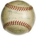 Autographs:Baseballs, 1956 New York Yankees Team Signed Baseball. One of the most memorable seasons in a Yankee history with no shortage thereof,...