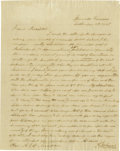 Autographs:U.S. Presidents, Andrew Johnson Excellent Autograph Letter Signed: Never attending school himself, Congressman Johnson writes his friend, Nas...
