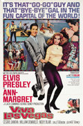 "Movie Posters:Elvis Presley, Viva Las Vegas (MGM, 1964). One Sheet (27"" X 41"") Style B. This was Elvis' biggest box office success. In the film he plays ..."