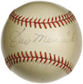"Autographs:Baseballs, 1940's Joe Medwick Single Signed Baseball. Affectionately dubbed ""Ducky"" for his distinctive baserunning waddle, the Hall o..."