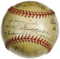 Autographs:Baseballs, 1944 Chicago Cubs Team Signed Baseball with Foxx. The Beast's onlyfull season at Wrigley. Though his skills were markedly...
