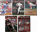 Autographs:Others, 1998-2001 Signed St. Louis Cardinals Gameday Magazines Lot of 20,Unsigned Lot of 5. Many of the modern stars of the St. Lo...