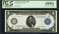 Fr. 855a $5 1914 Federal Reserve Note PCGS Extremely Fine 45PPQ