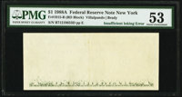 Insufficient Inking of Back Printing Error Fr. 1915-B $1 1988A Federal Reserve Note. PMG About Uncirculated 53