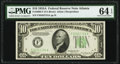 Small Size:Federal Reserve Notes, Fr. 2006-F $10 1934A Federal Reserve Note. PMG Choice Uncirculated 64 EPQ.. ...