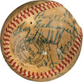Baseball Collectibles:Balls, 1955 Hall of Fame Induction Multi-Signed Baseball with Foxx, Young & Hornsby. ...