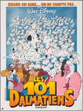 "Movie Posters:Animation, 101 Dalmatians (Walt Disney Productions, R-1980s). Folded, Very Fine. French Grande (46"" X 61.5""). Animation.. ..."