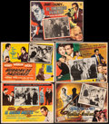 "Movie Posters:Film Noir, The Maltese Falcon & Other Lot (United Artists, R-1960s). Fine/Very Fine. Mexican Lobby Cards (5) (12.5"" X 16.25"" - 1..."