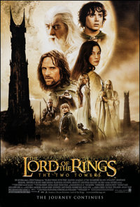 """The Lord of the Rings: The Two Towers (New Line, 2002). Rolled, Very Fine+. One Sheet (27"""" X 40"""") DS, Advance..."""