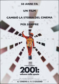 "Movie Posters:Science Fiction, 2001: A Space Odyssey (Warner Bros., R-2018). Folded, Very Fine-. 50th Anniversary Italian 2 - Fogli (39"" X 55"") Adva..."