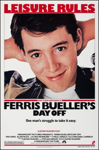 """Ferris Bueller's Day Off (Paramount, 1986). Rolled, Very Fine/Near Mint. One Sheet (27"""" X 41"""") SS. Comedy"""