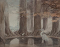 Works on Paper, Alan Lee (British, b. 1947). The Eye of the Heron paperback cover, 1984. Watercolor on paper. 15 x 19-1/4 inches (38.1 x...