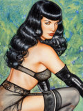 Works on Paper, Olivia De Berardinis (American, b. 1948). Bettie Page. Watercolor on paper. 19-1/2 x 14-1/2 inches (49.5 x 36.8 cm) (sig...