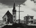 Photographs, Wright Morris (American, 1910-1998). Church and House, Virginia City, Nevada, 1941. Gelatin silver, printed later. 7 x 9...