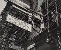 Photographs, Andreas Feininger (French/American, 1906-1999). Gunsmith Shop near Police Headquarters on Grand Street, Manhattan, 1940...