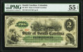 Obsoletes By State:South Carolina, Columbia, SC- State of South Carolina $2 Mar. 2, 1872 Cr. 4 PMG About Uncirculated 55 EPQ.. ...