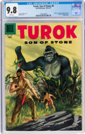 Silver Age (1956-1969):Adventure, Turok, Son of Stone #6 (Dell, 1956) CGC NM/MT 9.8 White pages....