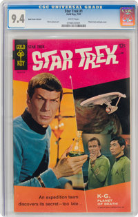 Star Trek #1 (Gold Key, 1967) CGC NM 9.4 White pages