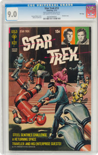 Star Trek #13 File Copy (Gold Key, 1972) CGC VF/NM 9.0 Off-white to white pages