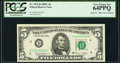 Solid 2 Serial Fr. 1972-D $5 1969C Federal Reserve Note. PCGS Very Choice New 64PPQ