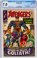 Silver Age (1956-1969):Superhero, The Avengers #28 (Marvel, 1966) CGC FN/VF 7.0 Cream to off-white pages....