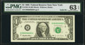 Fr. 1921-B $1 1995 Federal Reserve Note. PMG Choice Uncirculated 63 EPQ
