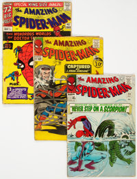 The Amazing Spider-Man UK Editions Group of 3 (Marvel, 1965-75).... (Total: 3 Comic Books)