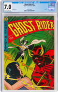 Golden Age (1938-1955):Western, Ghost Rider #12 (Magazine Enterprises, 1953) CGC FN/VF 7.0 Off-white to white pages....