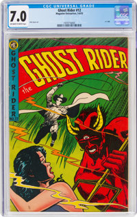 Ghost Rider #12 (Magazine Enterprises, 1953) CGC FN/VF 7.0 Off-white to white pages