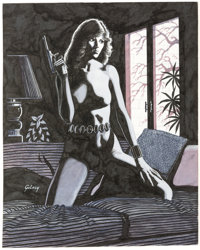 Paul Gulacy Black Widow Portfolio Plate 6 Original Art (Marvel, 1982)