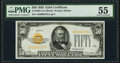 Small Size:Gold Certificates, Fr. 2404 $50 1928 Gold Certificate. PMG About Uncirculated 55.. ...
