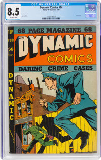 Dynamic Comics #24 (Chesler, 1948) CGC VF+ 8.5 Off-white pages