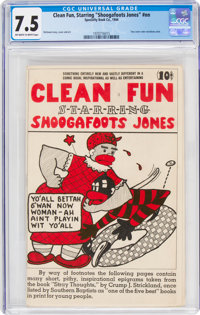 """Clean Fun, Starring """"Shoogafoots Jones"""" #nn (Specialty Book Co., 1944) CGC VF- 7.5 Off-white to white pages..."""