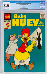 Baby Huey, the Baby Giant #2 File Copy (Harvey, 1956) CGC VF+ 8.5 Cream to off-white pages