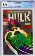 Silver Age (1956-1969):Superhero, The Incredible Hulk #107 (Marvel, 1968) CGC NM+ 9.6 Off-white to white pages....